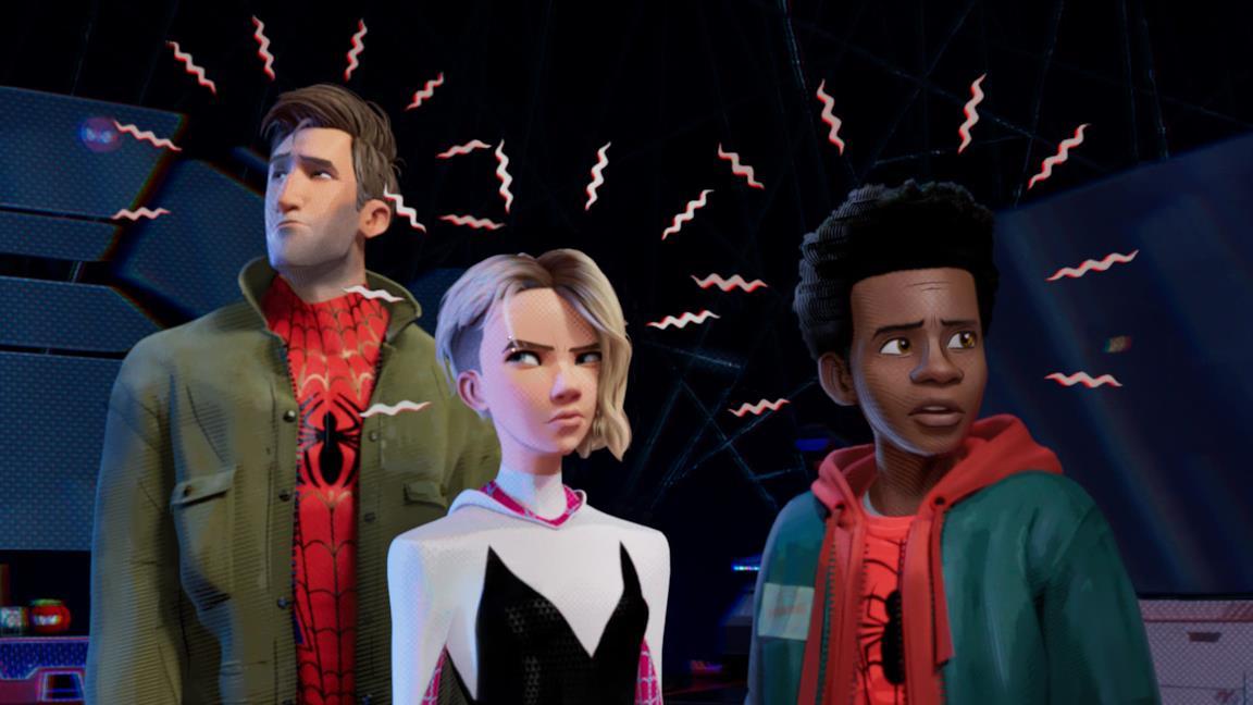 Il senso di ragno si attiva per i protagonisti di Spider-Man: un nuovo universo
