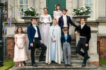 Il cast della serie Netflix Bridgerton al completo
