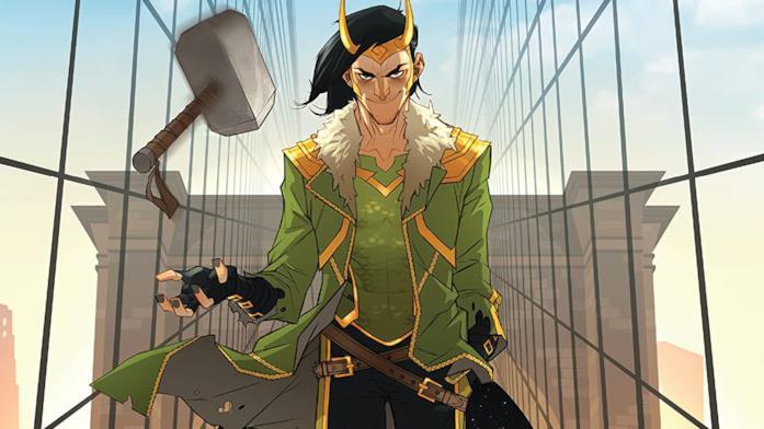 Dettaglio della cover di Loki: The God Who Fell To Earth