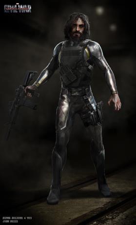 Un Super Soldato con una corazza metallica
