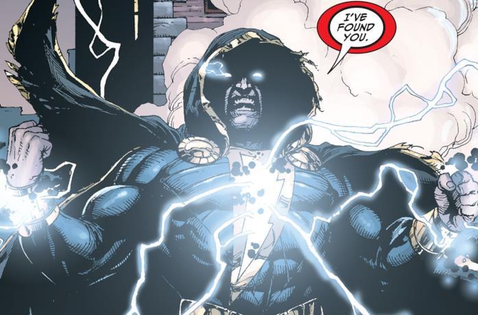 Black Adam in una tavola DC Comics