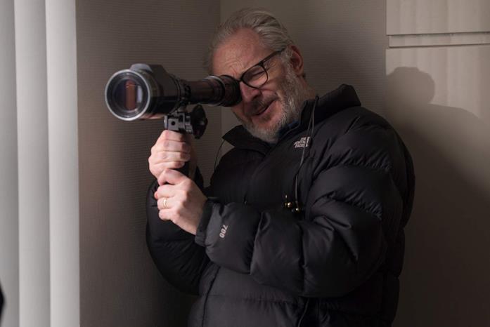 Francis Lawrence sul set del film Red Sparrow