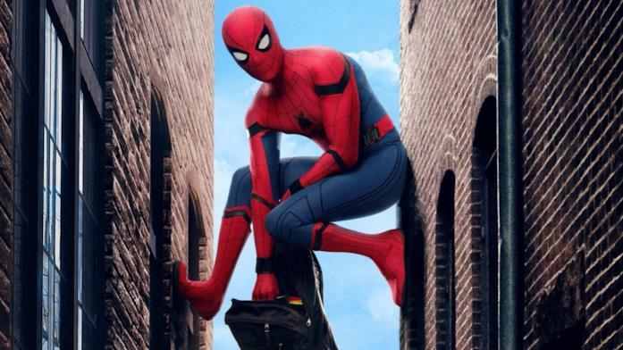 Spider-Man in un poster promozionale di Spider-Man: Homecoming
