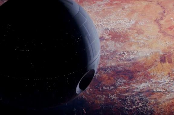 La Morte Nera vista in Rogue One: A Star Wars Story