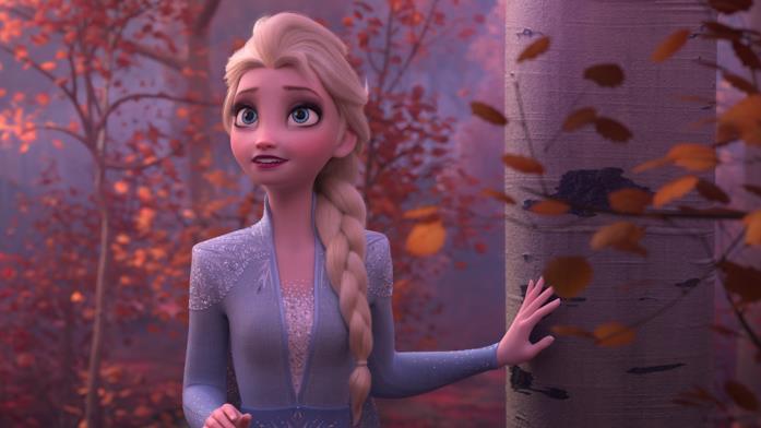 Un'immagine che ritrae Elsa, tratta da Frozen 2 - Il segreto di Arendelle