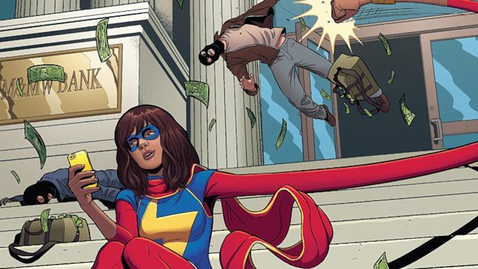 Dettaglio della cover di Ms. Marvel Vol. 2: Generation Why