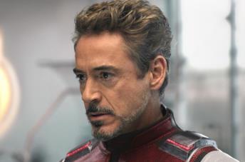 Un primo piano di Downey Jr. in Avengers: Endgame