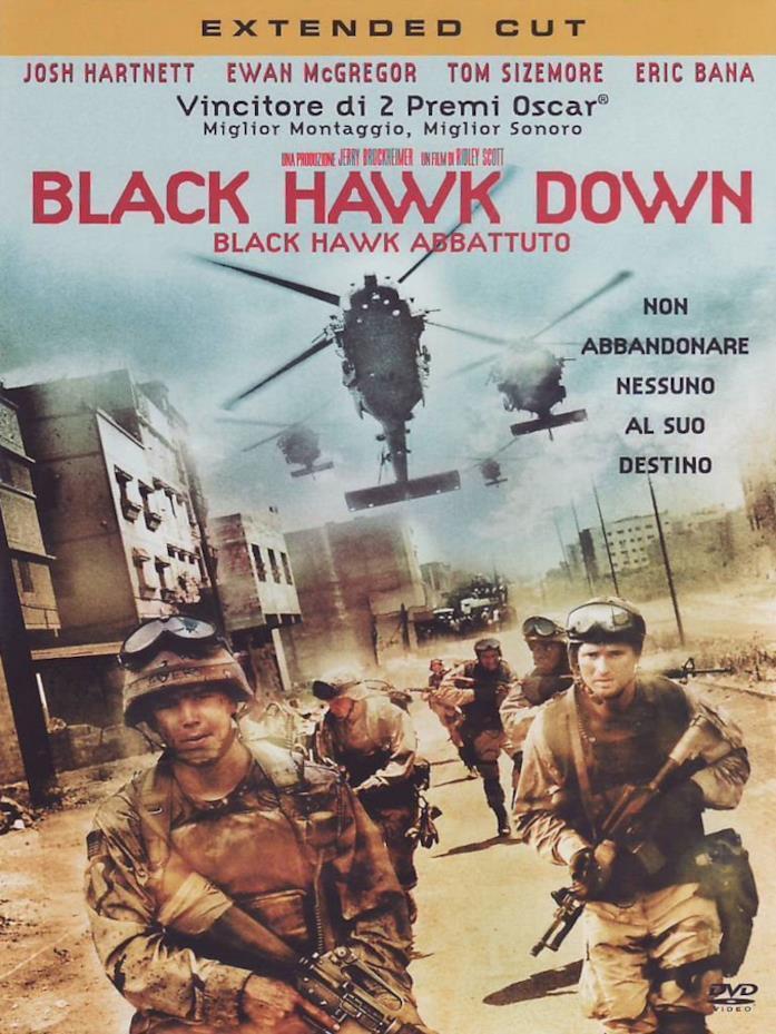 La cover di Black Hawk Down