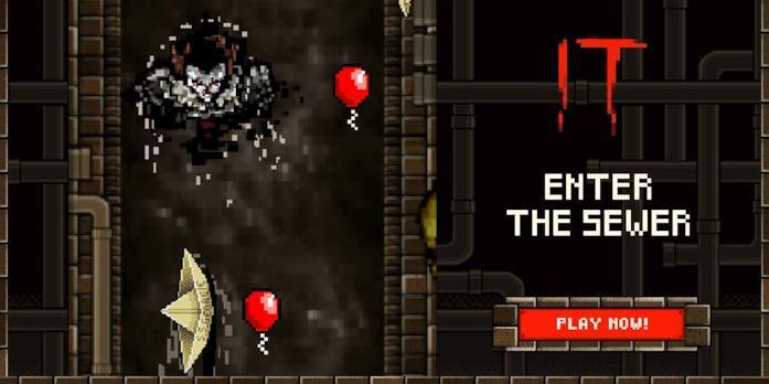 La schermata del videogame di IT