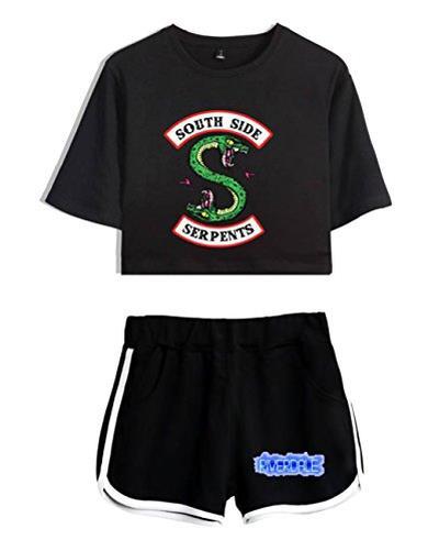 Crop Top T-Shirt e Shorts Riverdale