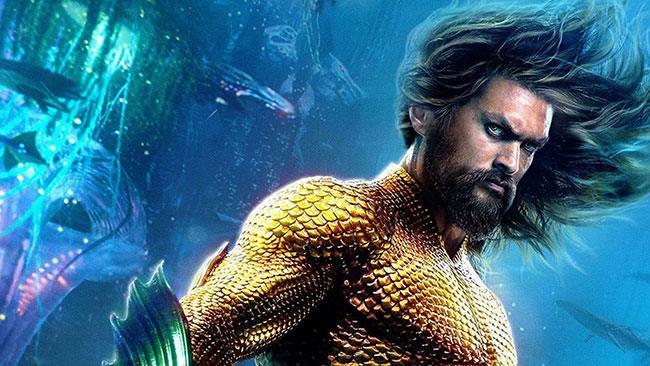 Primo piano di Aquaman