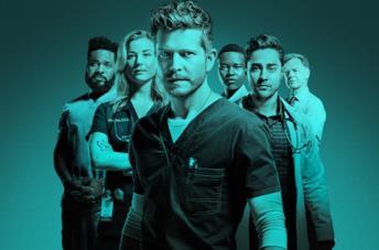 Un'immagine con i protagonisti di The Resident