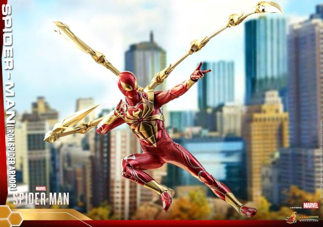 Iron Spider in una posizione d'attacco