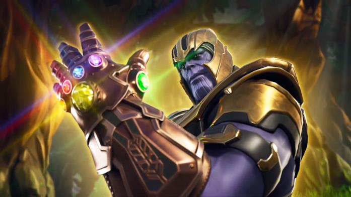 Thanos combatte in Fortnite