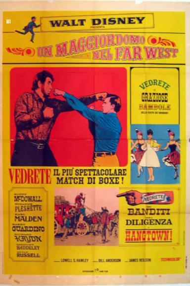 Poster Un maggiordomo nel Far West