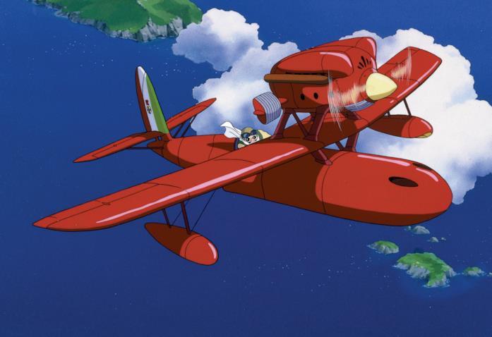 Marco in volo col suo idrovolante