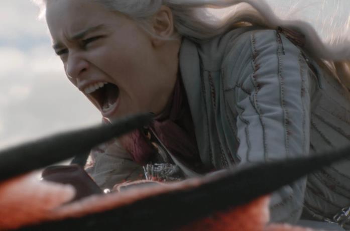 Daenerys Targarye nel finale di Game of Thrones