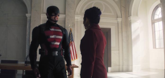 John Walker e Val nel finale di Winter Soldier