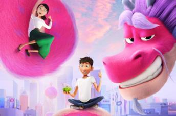 Una scena del film d'animazione Il drago dei desideri