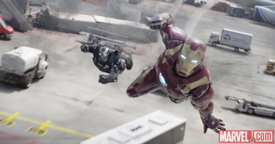 War Machine e Iron Man in Capitan America: Civil War
