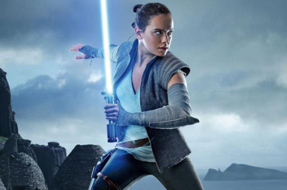 Rey in una scena di Star Wars: l'Ascesa di Skywalker