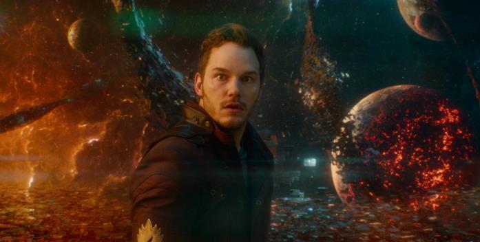 Chris Pratt come Star-Lord in Guardiani della Galassia