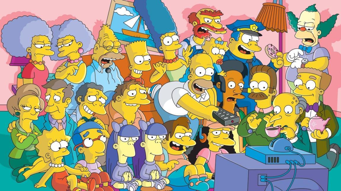 I personaggi de I Simpson davanti alla TV