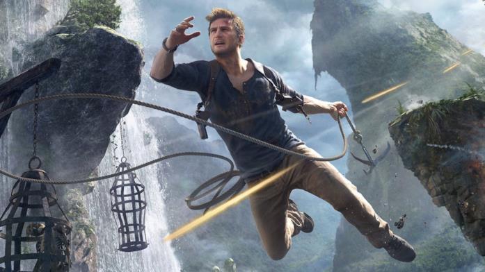 Nathan Drake in azione in Uncharted 4: Fine di un Ladro