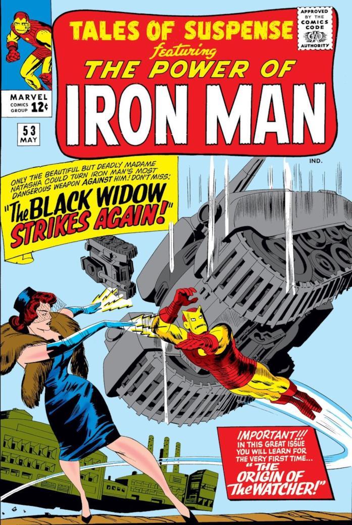 Iron Man e Black Widow sulla cover di un fumetto Marvel