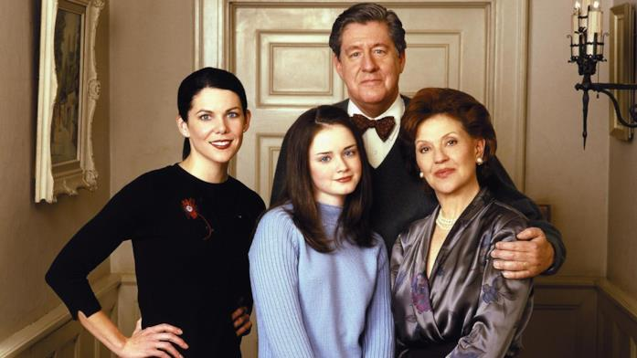 Lauren Graham, Alexis Bledel, Edward Herrmann e Kelly Bishop insieme