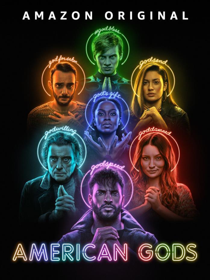 I protagonisti di American Gods sono raffigurati come dei nel poster ufficiale