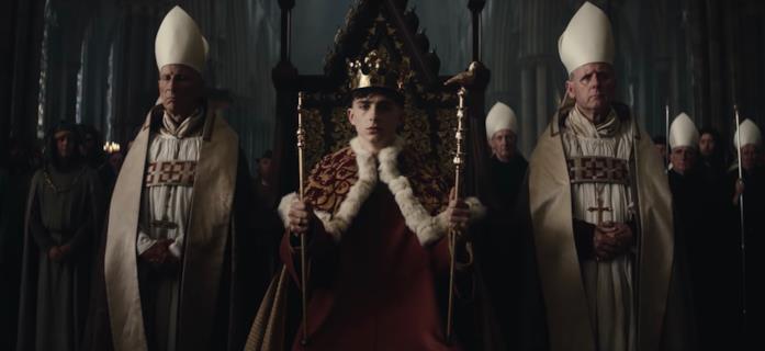 Enrico V sul trono
