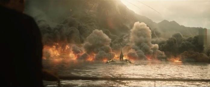Il Brachiosauro muore sommerso da fumo e fiamme