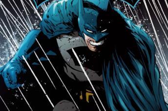 Il costume blu e grigio di Batman nel fumetto