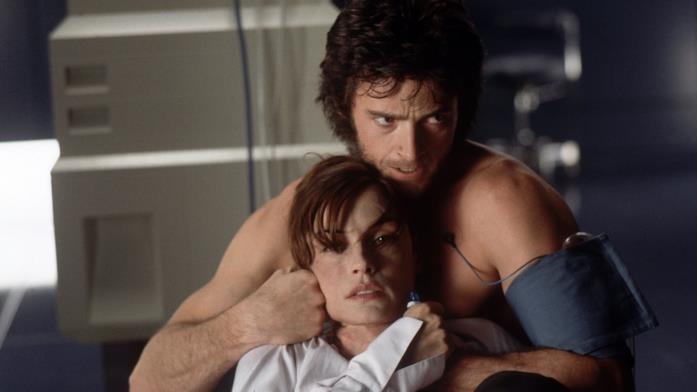 Hugh Jackman e Famke Janssen come Wolverine e Jean Grey in X-Men
