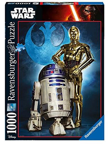 Ravensburger Italy- Puzzle R2-D2 & C-3PO Star Wars Collection, 1000 Pezzi, 19682