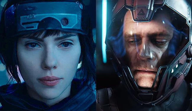 Scarlett Johansson in Ghost in the Shell