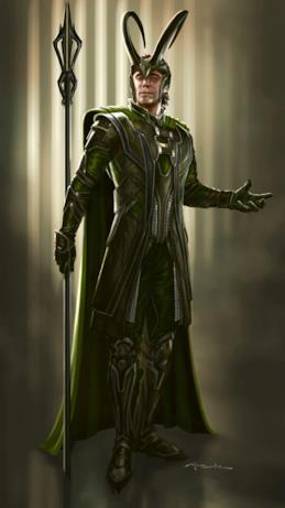 Loki con bastone e cappello