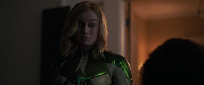 Brie Larson come Carol Danvers in Captain Marvel
