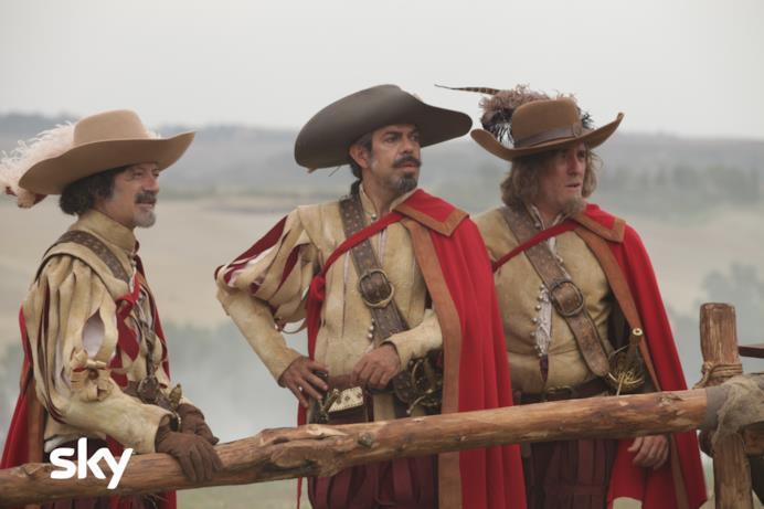 D'Artagnan, Porthos e Athos  in Tutti per 1 e 1 per tutti