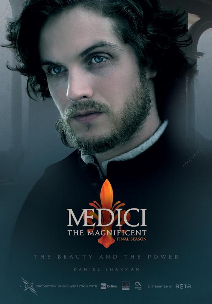 Daniel Sharman nella locandina de I Medici