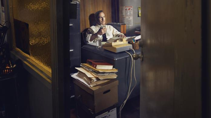 Una scena di Saul Goodman in Better Call Saul