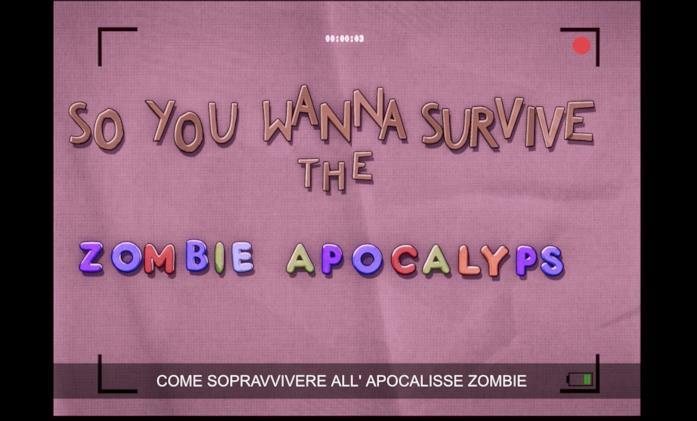 L'inizio del video di Spider-Man sull'apocalisse zombie