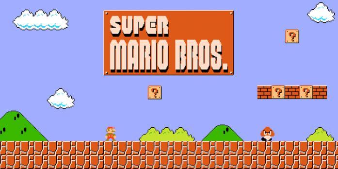 Super Mario corre nel primo livello del primo videogioco della saga