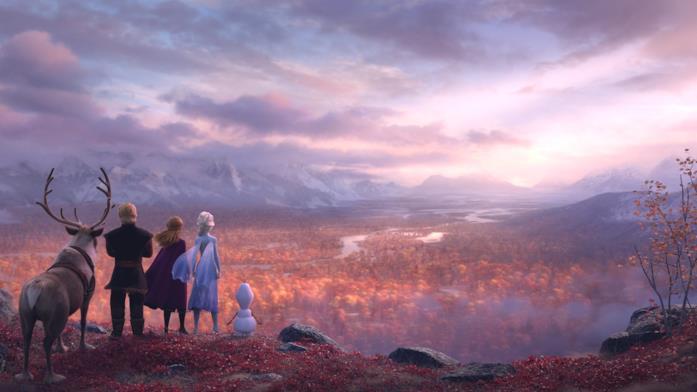 Un'immagine che vede i protagonisti di Frozen 2 - Il segreto di Arendelle pronti ad intraprendere una nuova avventura