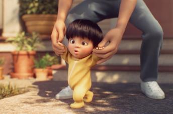 I protagonisti del cortometraggio Float di Pixar