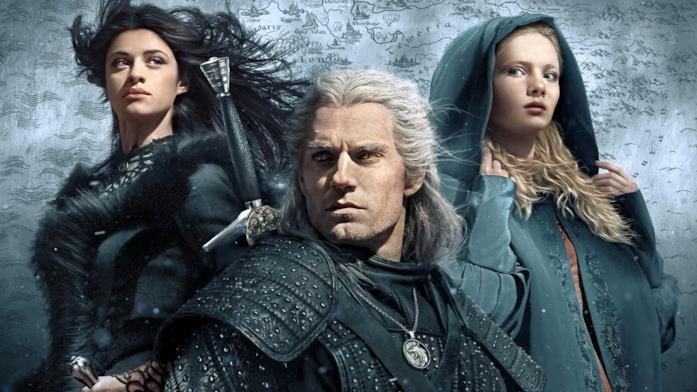 Primo piano del cast di The Witcher