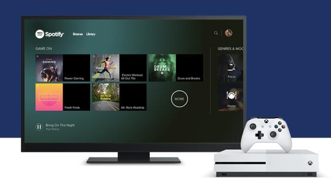 L'App di Spotify integrata su Xbox One