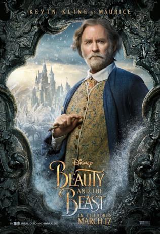 La Bella e la Bestia: Kevin Kline nel poster di Maurice