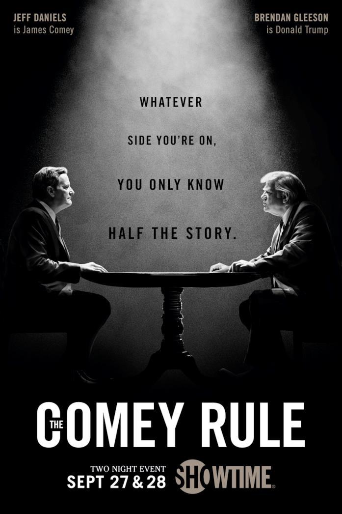 Jeff Daniels e Brendan Gleeson nel poster di The Comey Rule